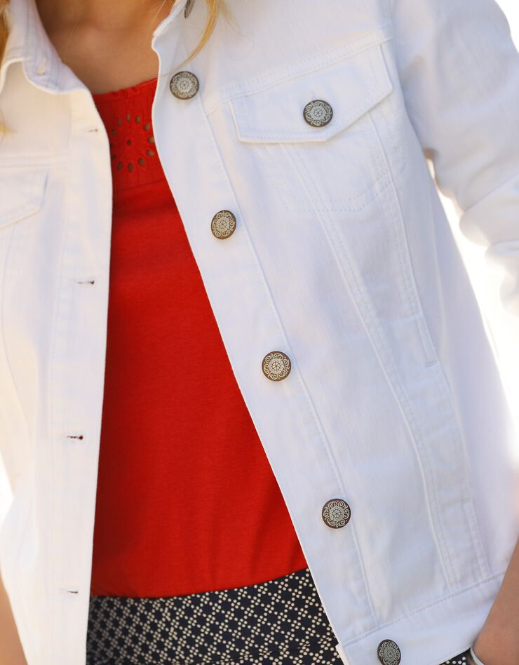 Verwassen jeansjasje, wit, hi-res image number 3