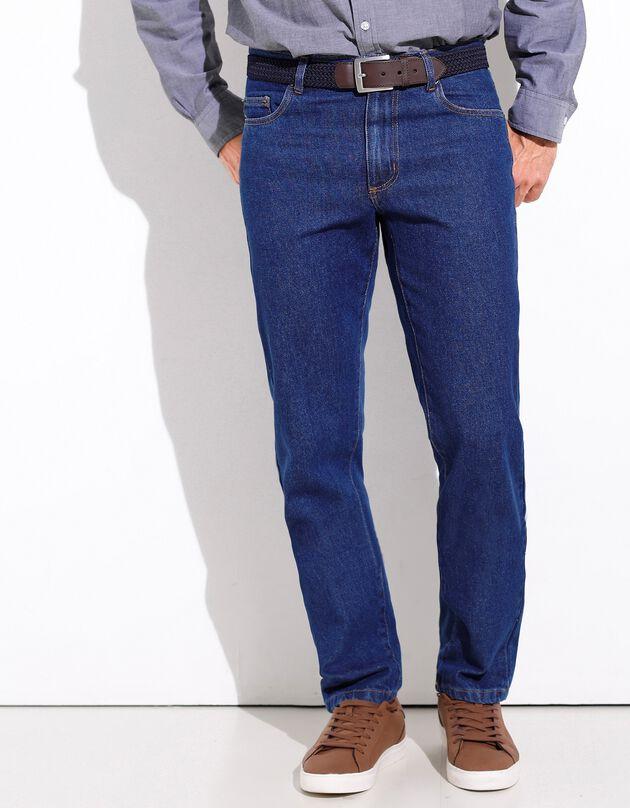 Jeans in katoen met 5 zakken - set van 2, stone + double stone, hi-res
