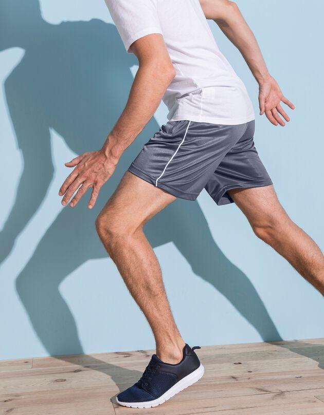 Short sport élastiqué, gris, hi-res