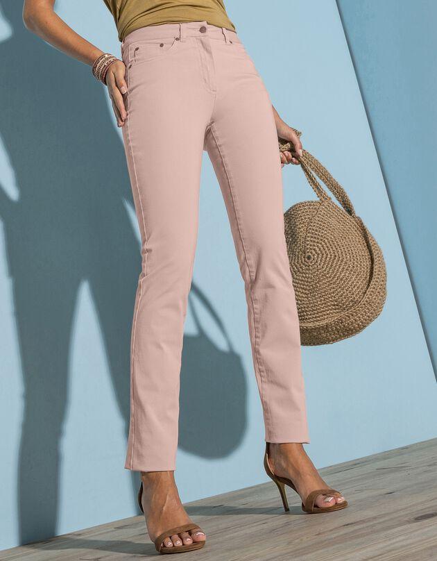 Pantalon droit bi-stretch, beige rosé, hi-res