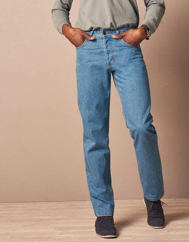 Jean authentique coupe droite - entrej. 82 cm, bleached, hi-res