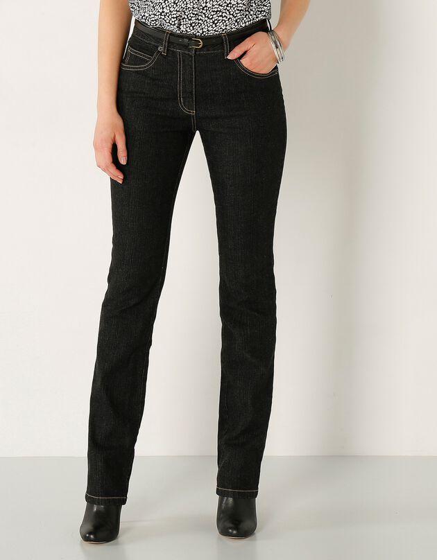 Jean droit - moyenne stature, black, hi-res