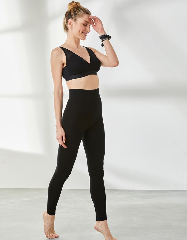 Legging met hoge taille - zwart, zwart, hi-res