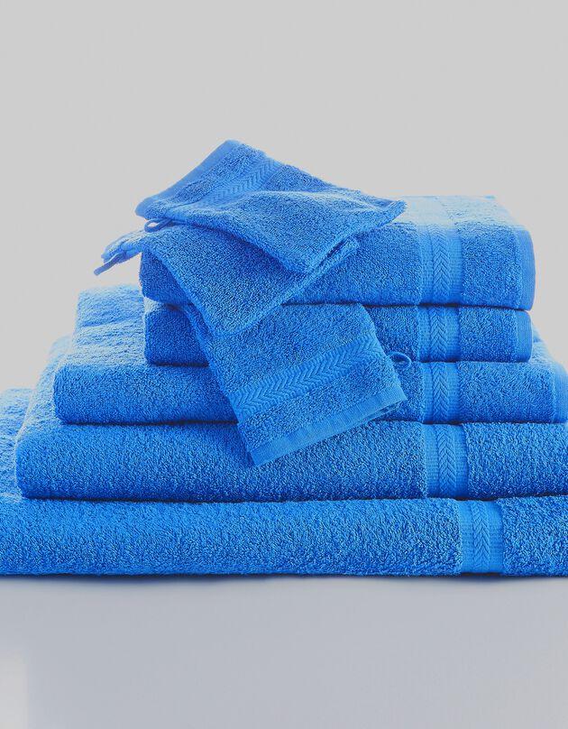 Effen badstof 420 g/m2 met zacht comfort, felblauw, hi-res