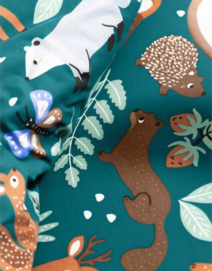 Bedlinnen voor kinderen met knuffelbeer motief in biologisch katoen, eco-verantwoord, groen, hi-res image number 7