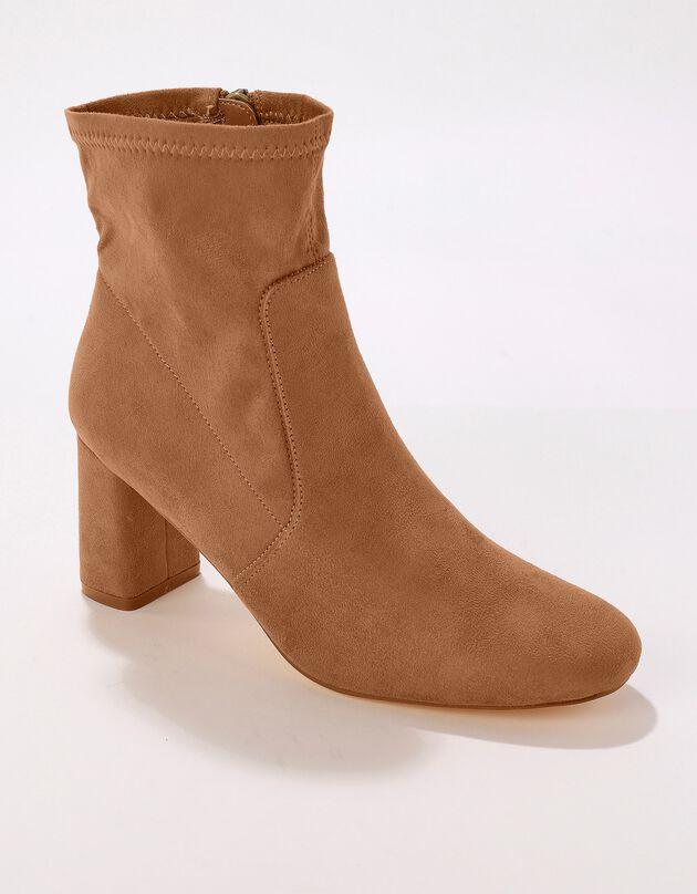 Boots effet chaussettes - caramel, caramel, hi-res