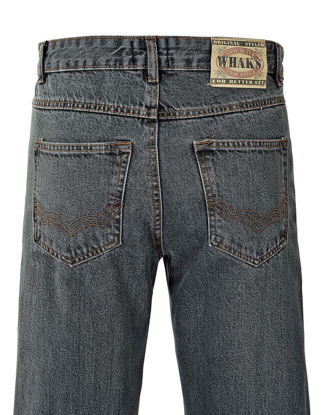 Authentieke jeans in recht model - binnenpijplengte 72 cm, grijs, hi-res