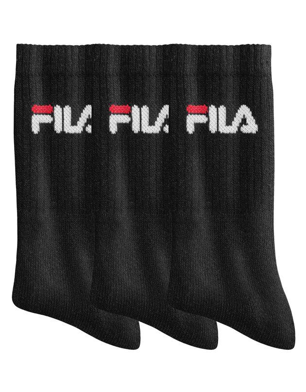 """Mi-chaussettes """"Sport"""" - lot de 3 paires, noir, hi-res"""