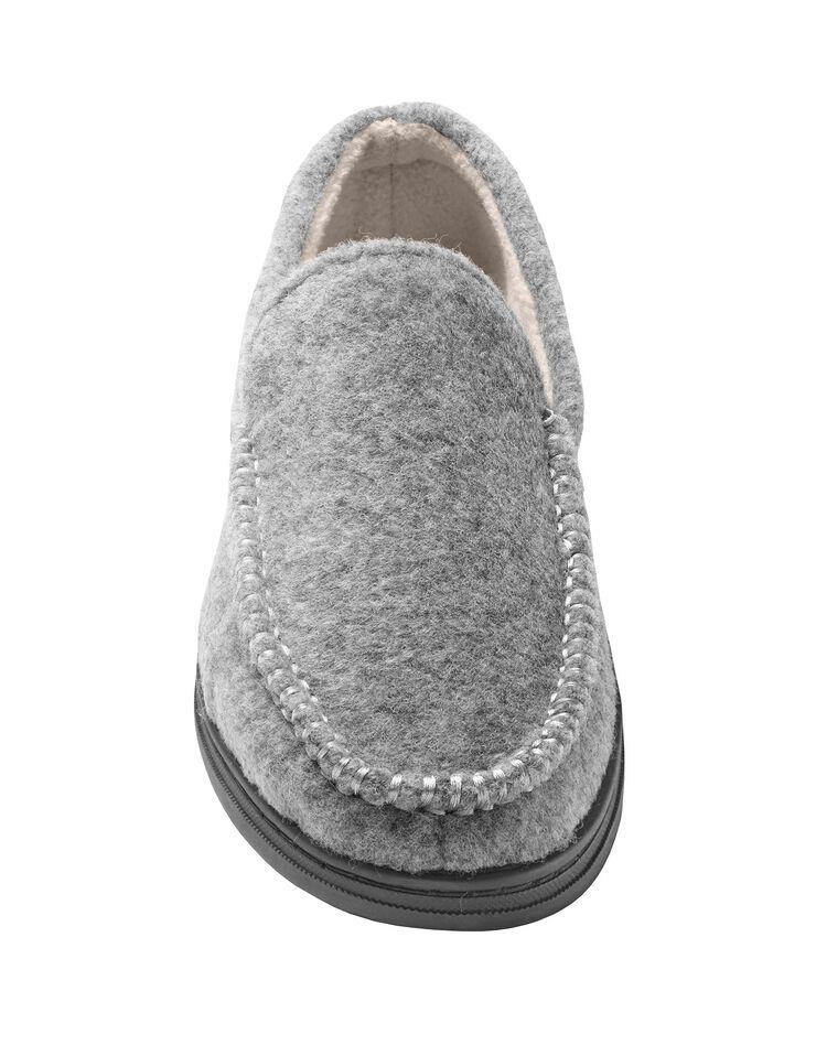 Pantoufles homme feutrine, gris, hi-res image number 3