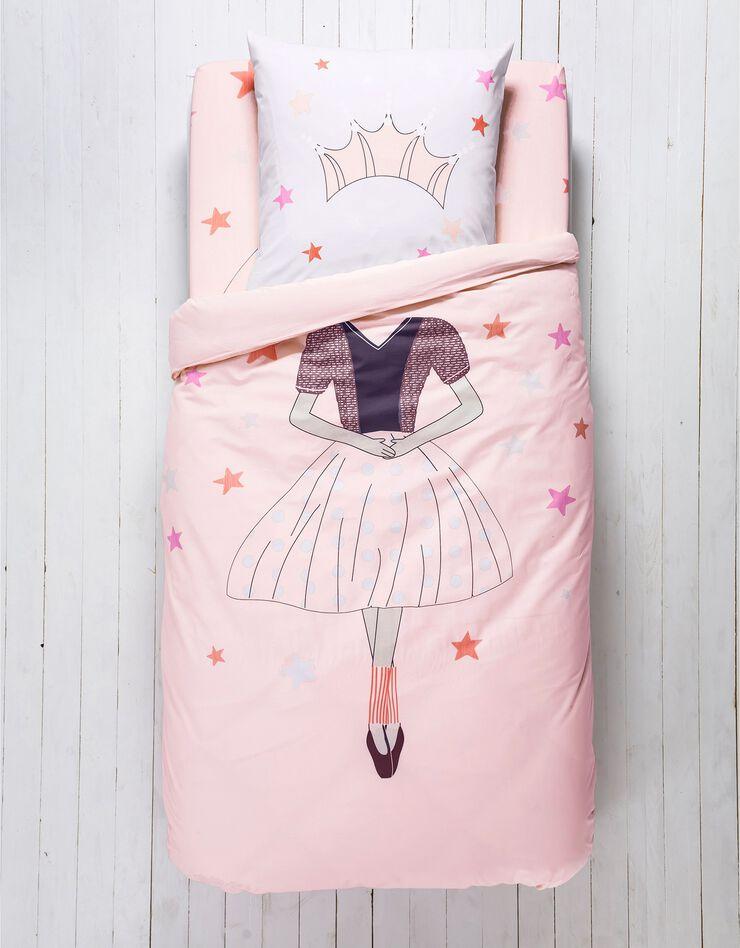 Bedlinnen voor kinderen met vermommingseffect Prinses, in katoen, poederroze, hi-res image number 0