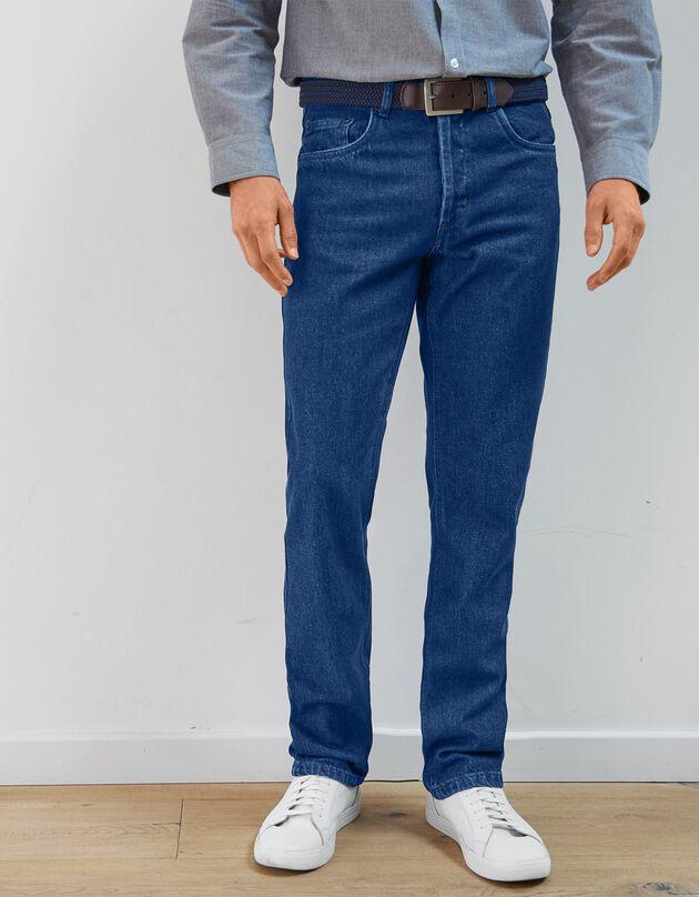 Authentieke jeans in recht model - binnenpijplengte 72 cm, stone, hi-res