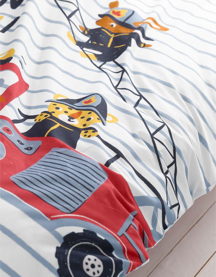 Bedlinnen voor kinderen met brandweermotieven, in katoen, hemelsblauw, hi-res image number 6