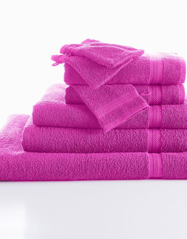 Effen badstof 420 g/m2 met zacht comfort, heideblauw, hi-res