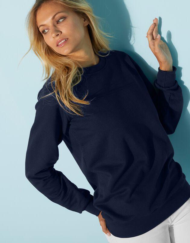 Sweater in molton, marine, hi-res