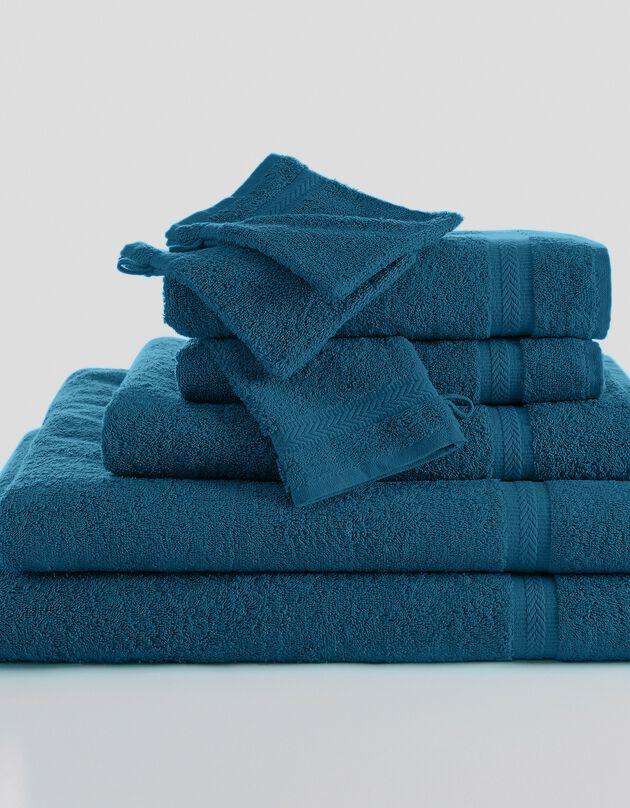Effen badstof 420 g/m2 met zacht comfort, pauwblauw, hi-res