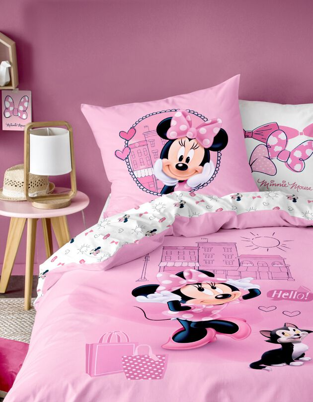 Lakenset Minnie Downtown® - katoen, roze, hi-res