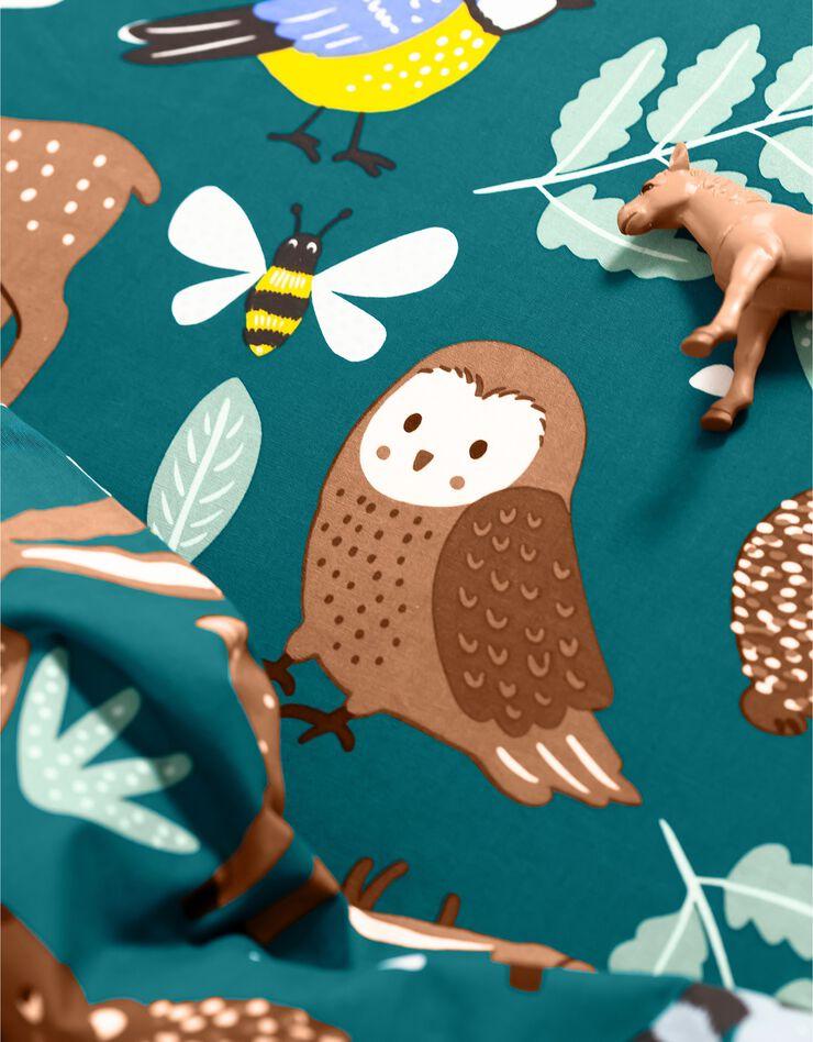 Bedlinnen voor kinderen met knuffelbeer motief in biologisch katoen, eco-verantwoord, groen, hi-res image number 2