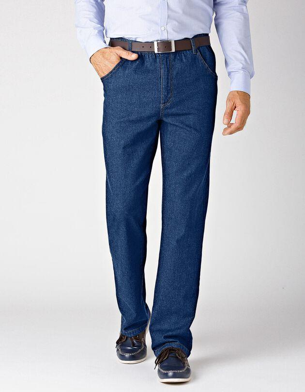 Jean taille élastiquée - entrej. 72 cm, brut, hi-res