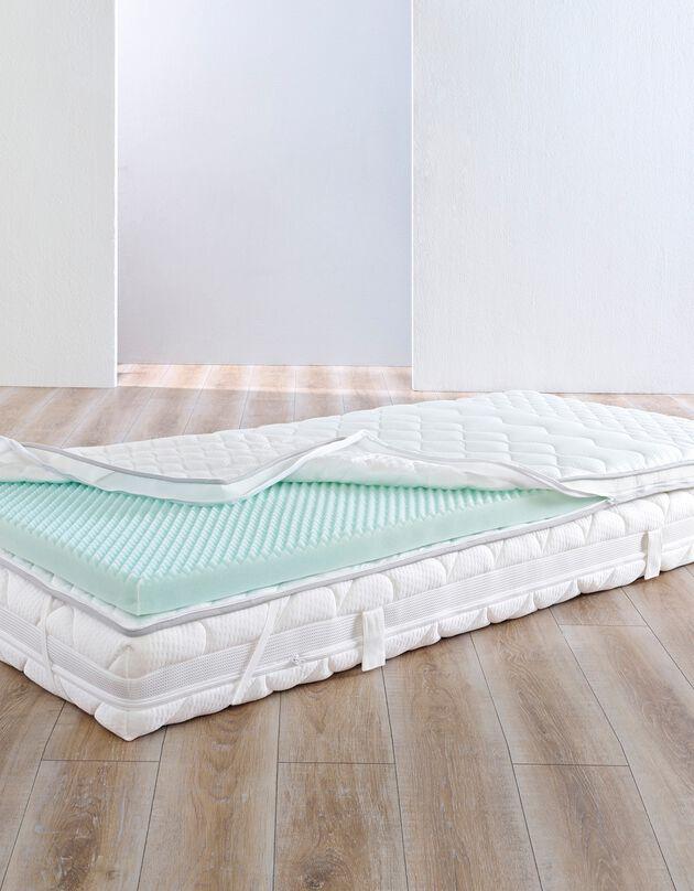 Surmatelas mousse zonnée big confort - 7 cm, blanc, hi-res
