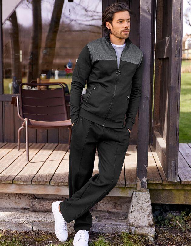 Veste zippée en molleton, noir / anthracite, hi-res