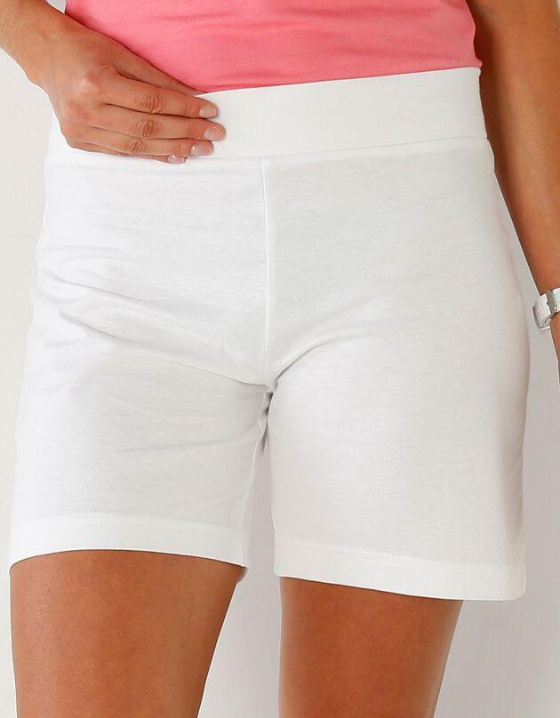 Short coton bio, blanc, hi-res