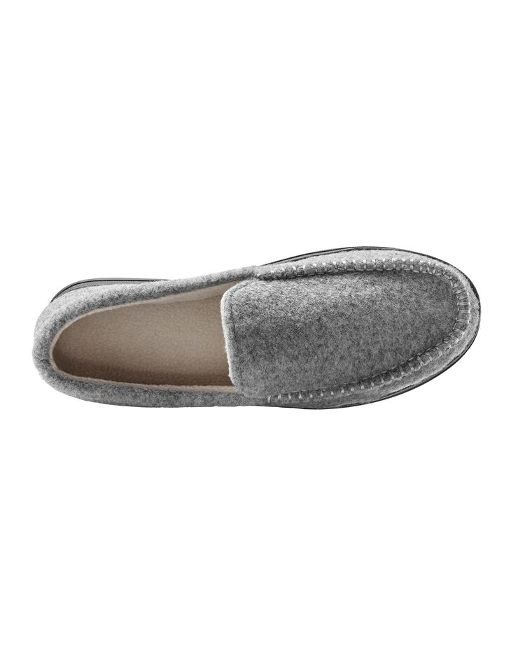 Pantoufles homme feutrine, gris, hi-res image number 2