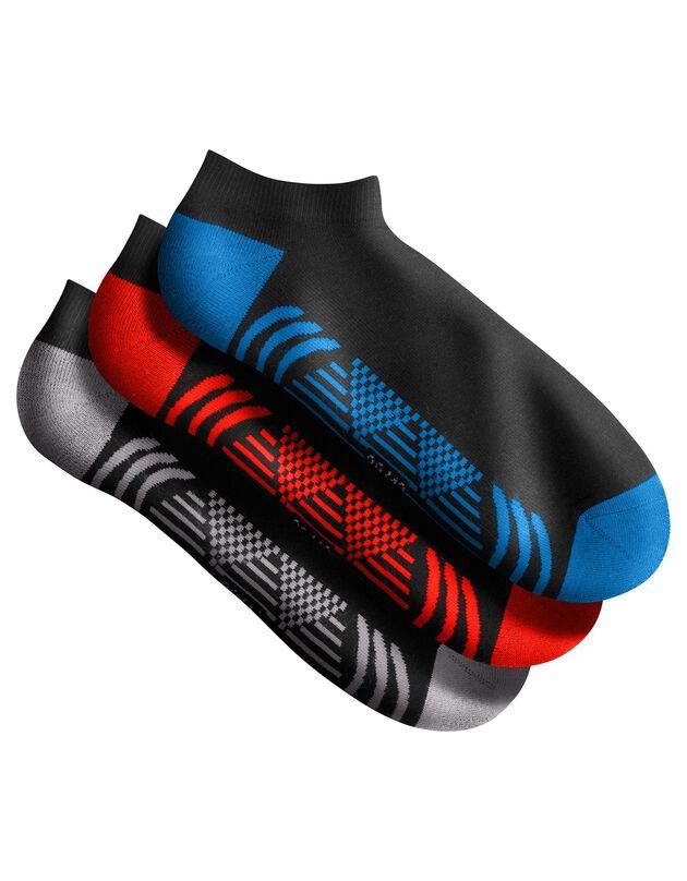 Socquettes sport - lot de 3 paires, noir, hi-res
