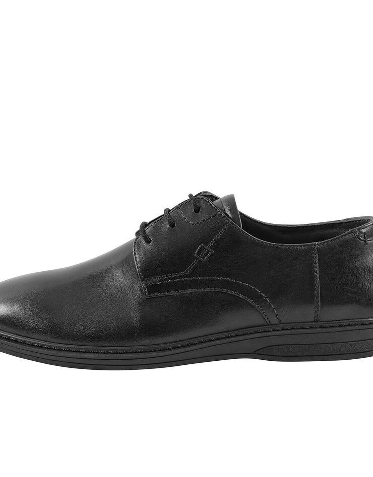 Derbies lacés croûte de cuir, noir, hi-res image number 1
