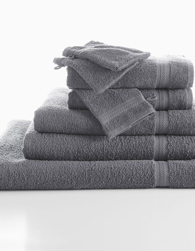 Effen badstof 420 g/m2 met zacht comfort, antraciet, hi-res