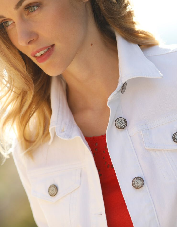 Verwassen jeansjasje, wit, hi-res image number 1