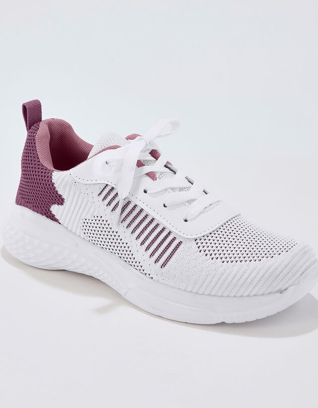 Ultralichte baskets - wit/roze, wit / roze, hi-res