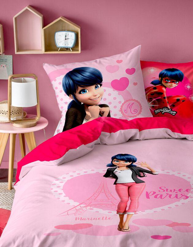 Lakenset kids Miraculous®, 1 persoon - katoen, roze, hi-res