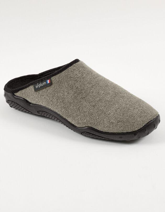 Mules homme semelles Airplum textile éponge, kaki, hi-res