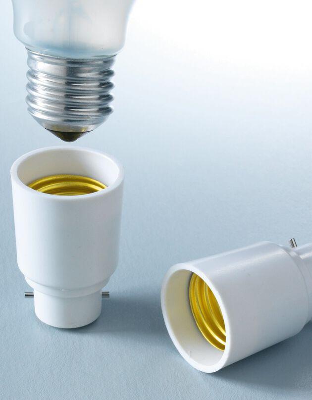 Adaptateur ampoule - lot de 4, blanc, hi-res