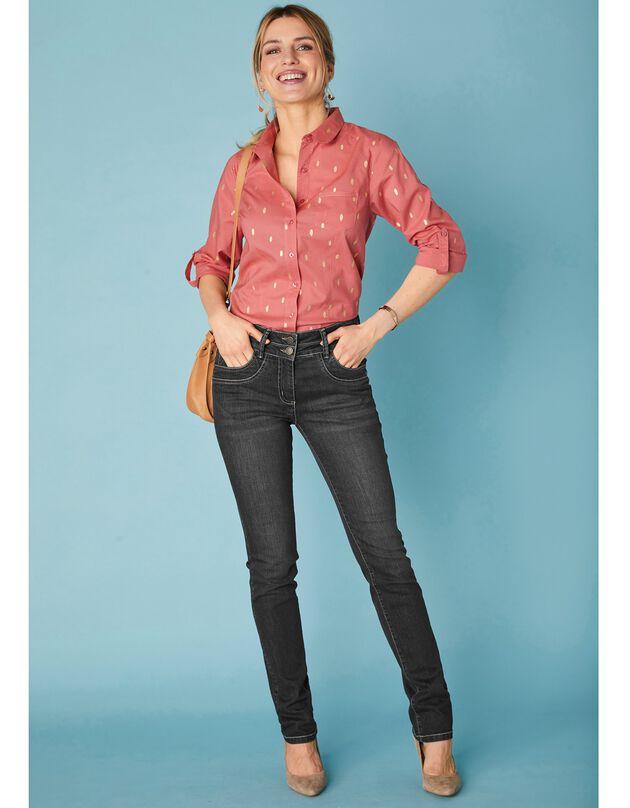 Jean coupe droite délavé stretch, black, hi-res