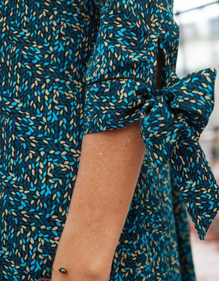 Bedrukte, uitlopende jurk, blauw, hi-res image number 3