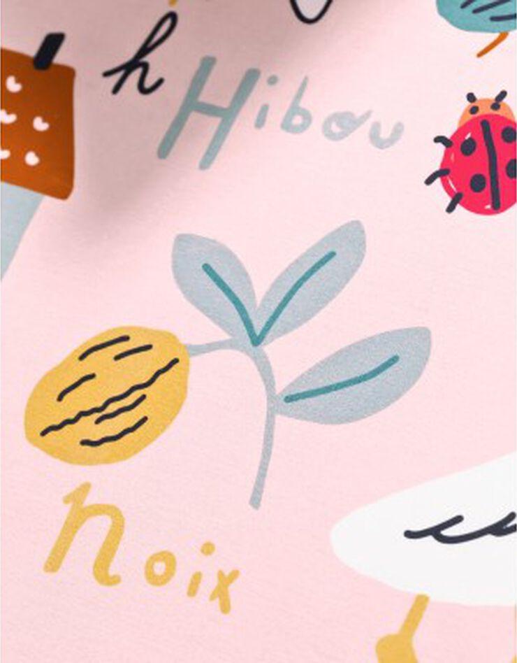 Bedlinnen voor kinderen met 'Alfabet' motieven, in katoen, roze, hi-res image number 7