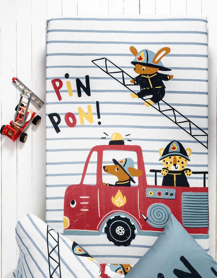 Bedlinnen voor kinderen met brandweermotieven, in katoen, hemelsblauw, hi-res image number 4