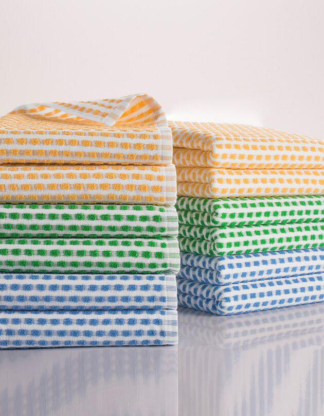 Essuie-mains éponge grande taille 3 couleurs - lots, bleu + vert + jaune, hi-res