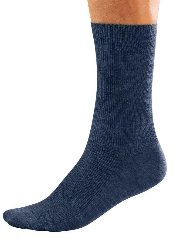 Mi-chaussettes spéciales circulation - lot de 2 paires, bleu jean, hi-res
