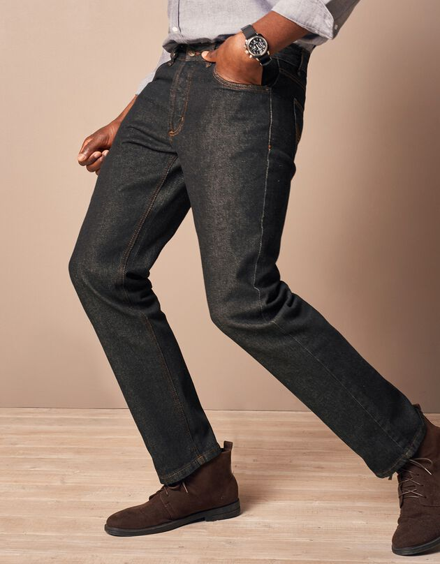 Authentieke jeans in recht model - binnenpijplengte 82 cm, black, hi-res