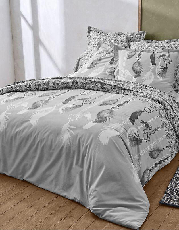 Linge de lit Angèle - coton, gris, hi-res
