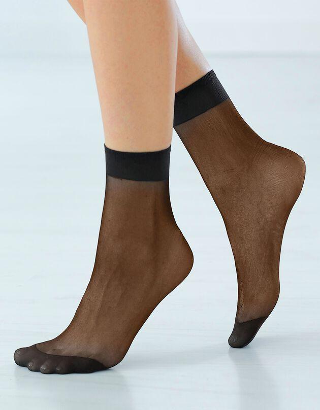 Mi-chaussettes mousse - lot de 10 paires, noir, hi-res