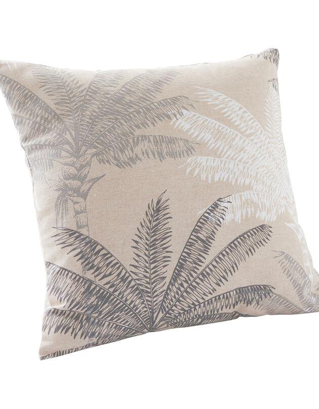 Housse de coussin imprimé palmiers - lot de 2, beige / gris, hi-res