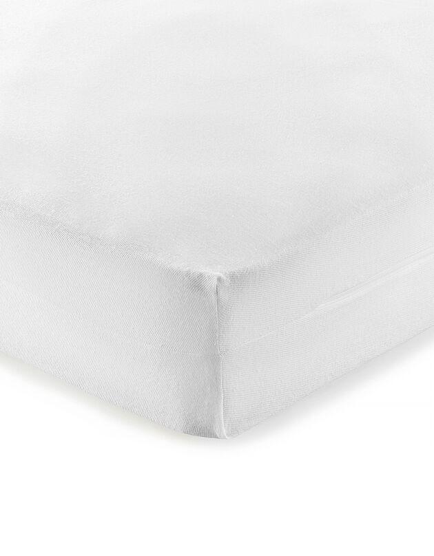 Matrashoes in molton van biokatoen, wit, hi-res