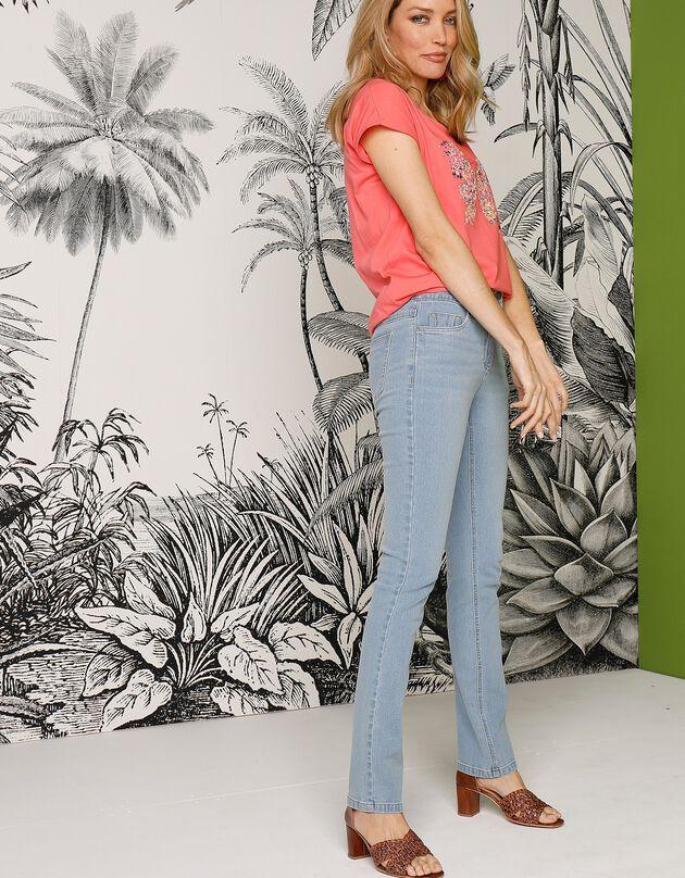 Rechte jeans, bleached - verantwoorde aankoop, bleached, hi-res