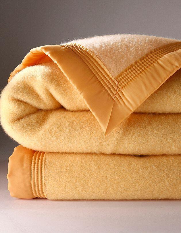 Tweekleurig deken in wol 730g/m2 Colombine®, honing, hi-res