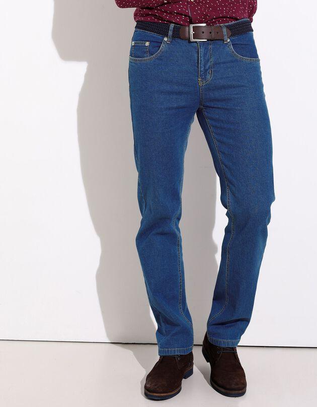 Jean taille élastiquée - entrej. 72 cm, stone, hi-res