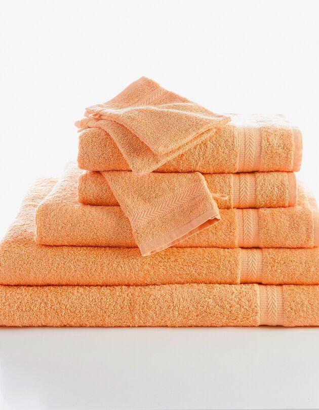 Effen badstof 420 g/m2 met zacht comfort, abrikoos, hi-res