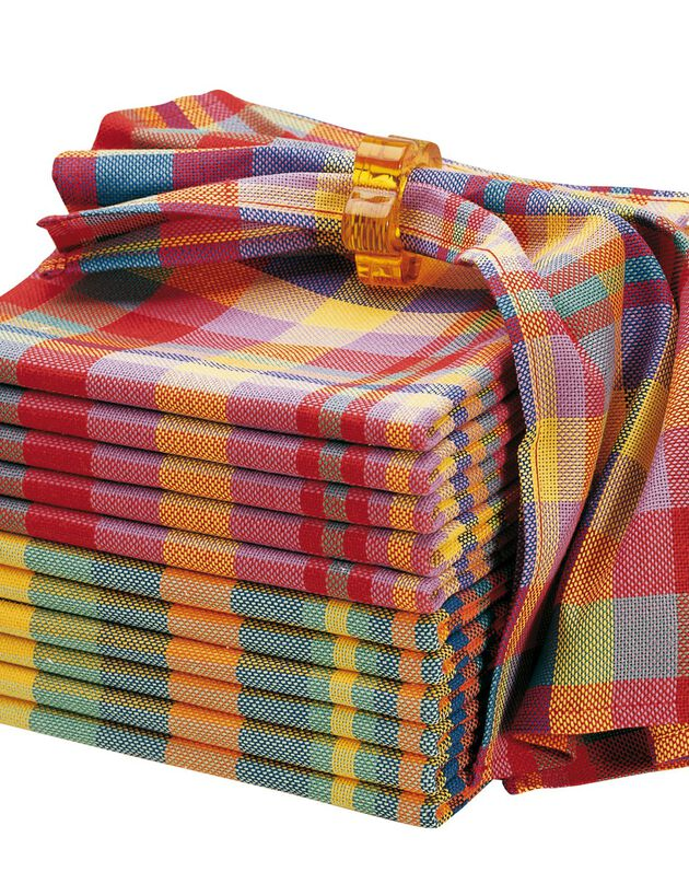 Serviette de table carreaux Madras - Lots, madras, hi-res
